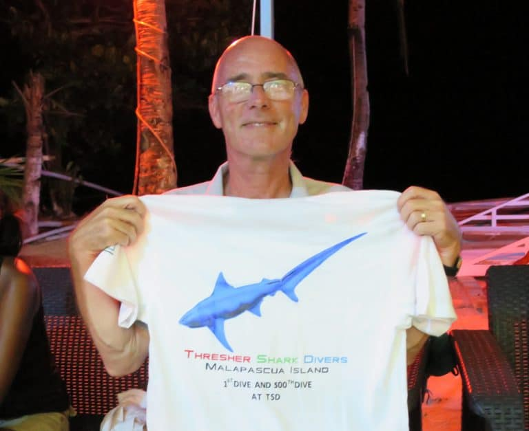 Steve Tapply, guest extraordinaire with Thresher Shark Divers Malapascua