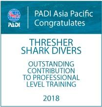 Thresher Shark Divers Malapascua Pro Level Training Award 2018