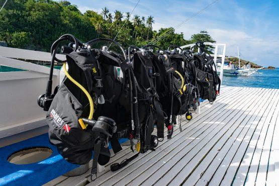 equipment set up Malapascua Island