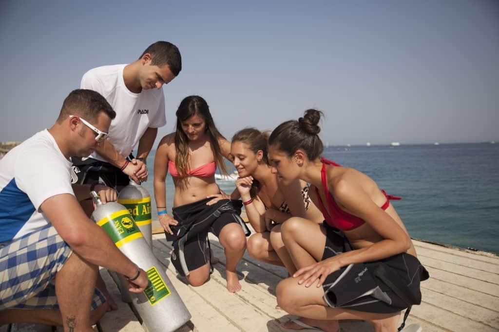 Teaching Nitrox on Malapascua Island