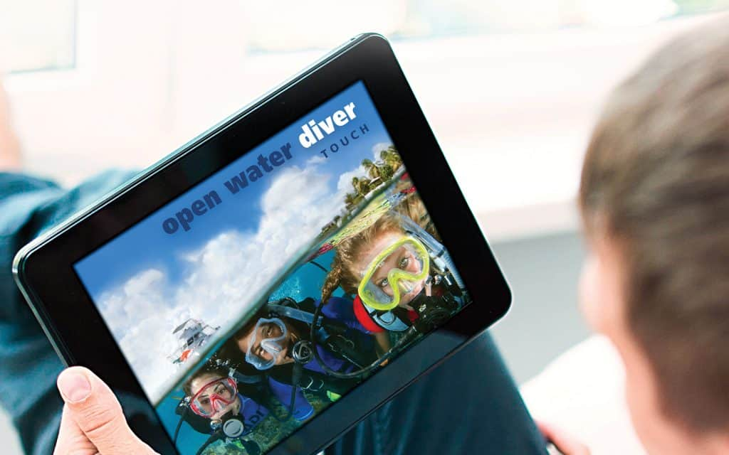 PADI Open Water Course on your tablet