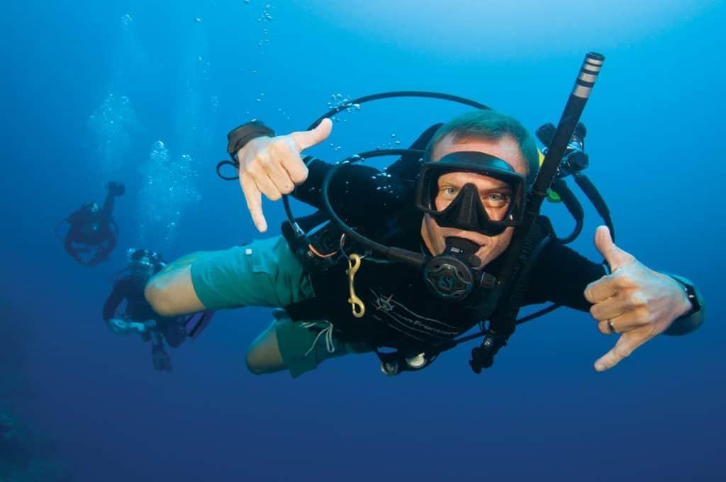 Happy diver Malapascua Island