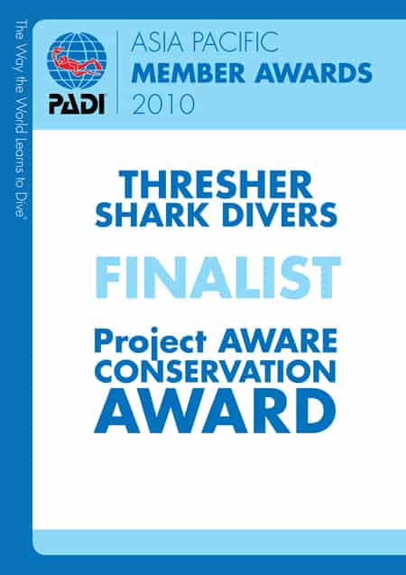 Thresher Shark Divers Malapascua Conservation Award 2010