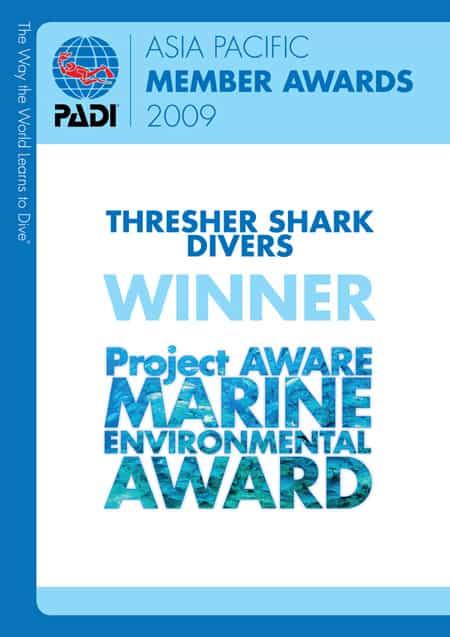 Thresher Shark Divers Malapascua Conservation Award 2009