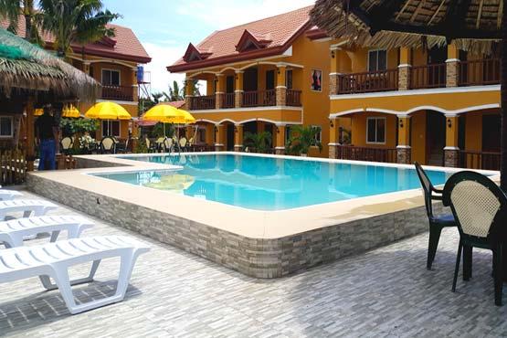 Malapascua Island resort with pool