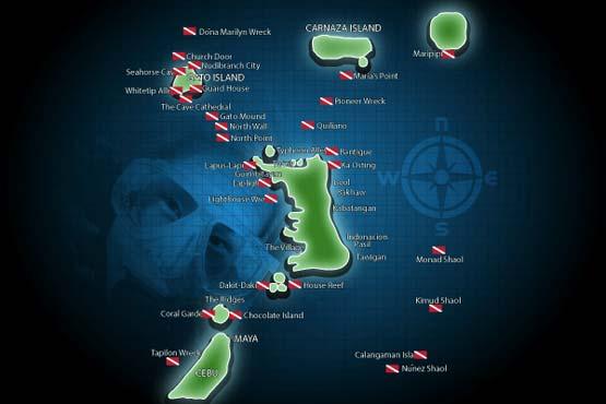 Dive sites on Malapascua Island