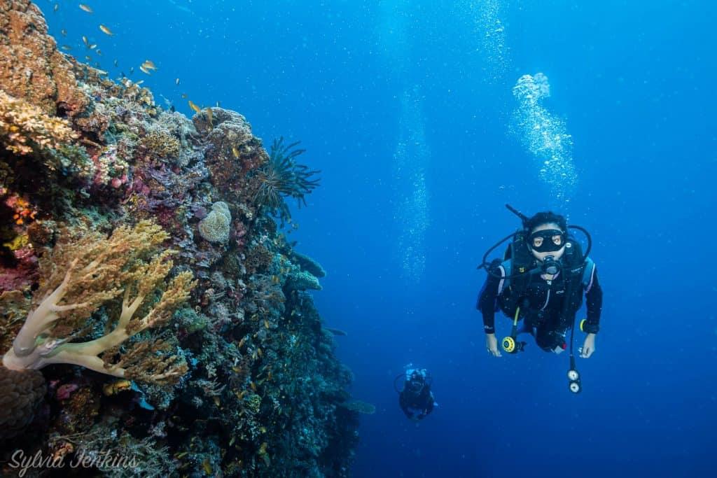 Scuba diver on Malapascua Island